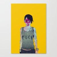 boneface Canvas Prints featuring Helle by boneface
