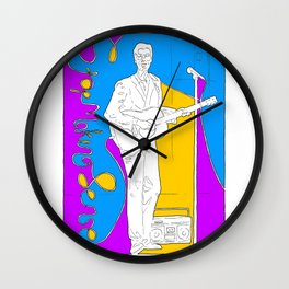 David Byrne in Stop Making Sense by Aaron Bir Wall Clock