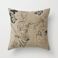 justice Throw Pillows featuring Justice by Maithili Jha