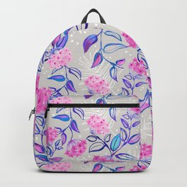 Watercolor Blooming Wax Plant Backpack