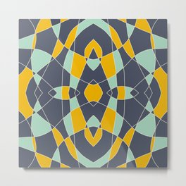 Abstrace Retro Colored Mandala Metal Print