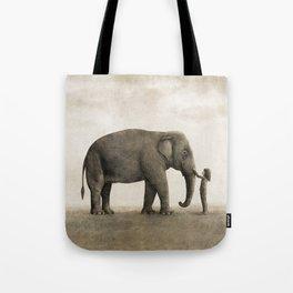 One Amazing Elephant - sepia option Tote Bag