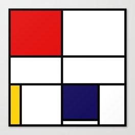 Mondrian De Stijl Modernist Inspired Abstract Art Canvas Print