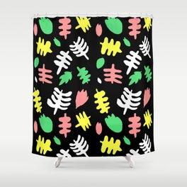 Paradise Tropic black Shower Curtain