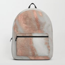 Marble Rose Gold Shimmery Marble Backpack