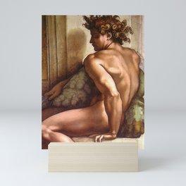 "Michelangelo Buonarroti ""Ignudo"" (2) Mini Art Print"