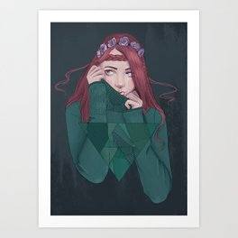 Being Shy is Painful Art Print