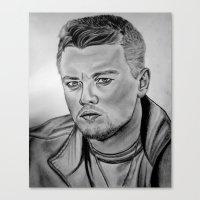 leonardo dicaprio Canvas Prints featuring Leonardo DiCaprio by CBDB