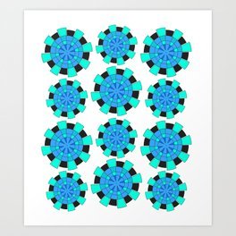 abstract green and blue cloves Art Print