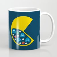 8 bit Mugs featuring 8-Bit Breakfast by Byway