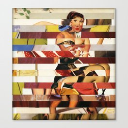 Glitch Pin-Up Redux: Emma Canvas Print