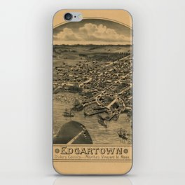 Map Of Marthas Vineyard 1886 iPhone Skin