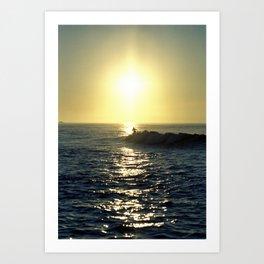 Riding the Wave Art Print