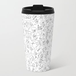 Creatures In The Sky // Black Travel Mug