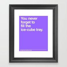 Ice Cube Tray Framed Art Print