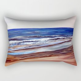 Snettisham Beach Seascape Rectangular Pillow