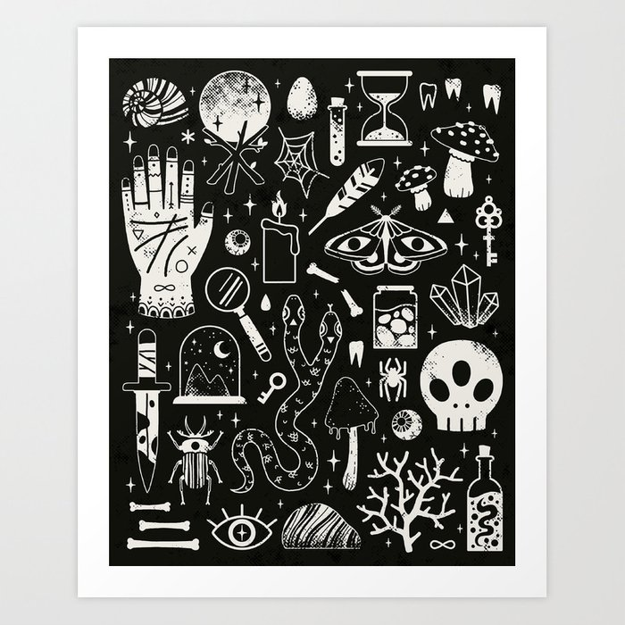 Curiosities: Bone Black Kunstdrucke
