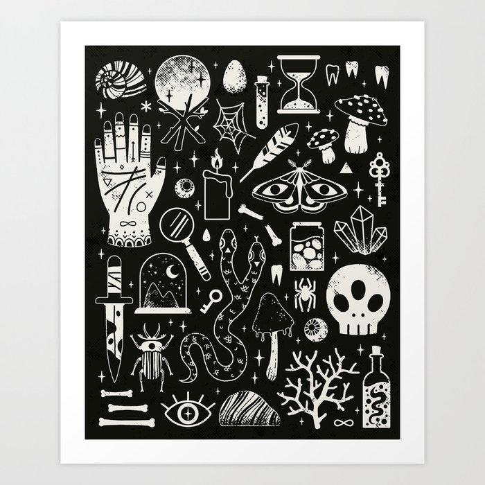 Curiosities: Bone Black Art Print