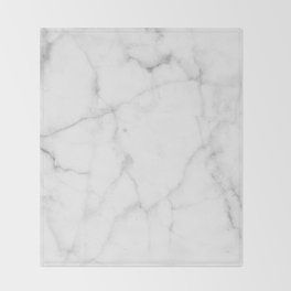 Pure Solid White Marble Stone All Over Throw Blanket