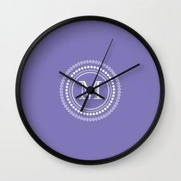 The Circle of  M Wall Clock