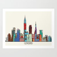 cleveland Art Prints featuring Cleveland city  by bri.buckley