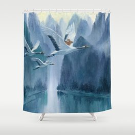 Isabella and the Cranes Shower Curtain