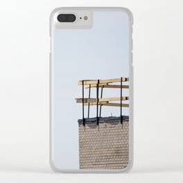 Scaffolding. Clear iPhone Case