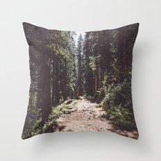 Entering the Wilderness Throw Pillow