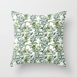 Snowberry Throw Pillow