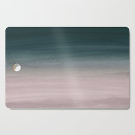 Touching Teal Blush Watercolor Abstract #1 #painting #decor #art #society6 Cutting Board