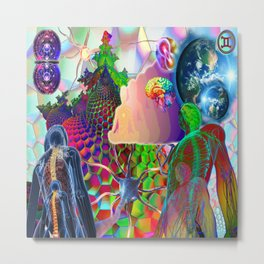 'Stellar Nervous System & Its Energetic Relay With The Multi-Verse' Metal Print