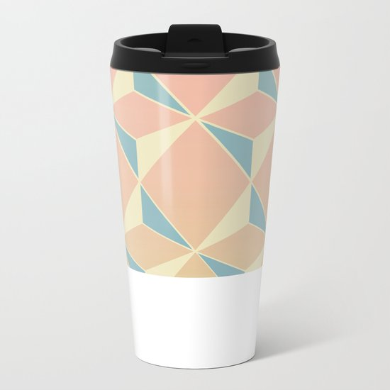 Triangles and Squares XI Metal Travel Mug
