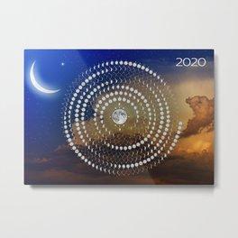 Lunar circular calendar 2020 #3 Metal Print