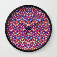 damask Wall Clocks featuring Damask by Denisse Cucalón