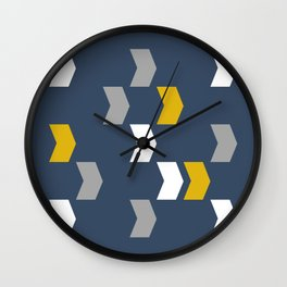 Random Chevron Pattern Wall Clock