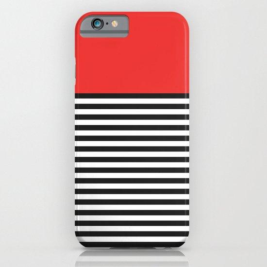 STRIPE COLORBLOCK {POPPY RED} iPhone & iPod Case