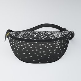 glitter silver and black Fanny Pack