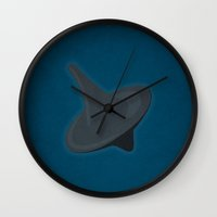 inception Wall Clocks featuring Inception by Martin Lucas