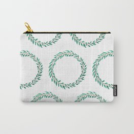 Green Wreath Carry-All Pouch