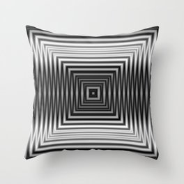 Black and White Squared Throw Pillow