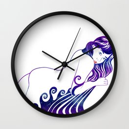 Water Nymph XII Wall Clock