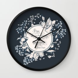 It has always been forever for me Sassenach. Jamie Fraser Wall Clock