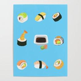 Sushi Pattern Poster
