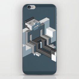 Couch slouch pixel artwork iPhone Skin