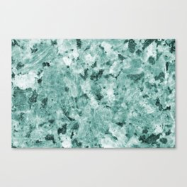 Mint Green Crystal Marble Canvas Print