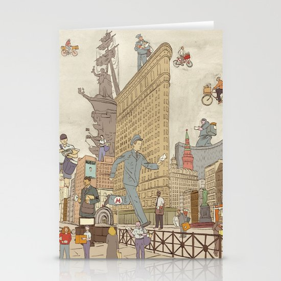 St. Petersburg Literary Map Stationery Cards