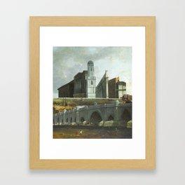 A canto da cidade Framed Art Print