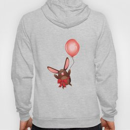 Happy bunny with red balloon Hoody