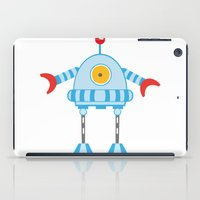robot iPad Cases featuring Robot by olillia