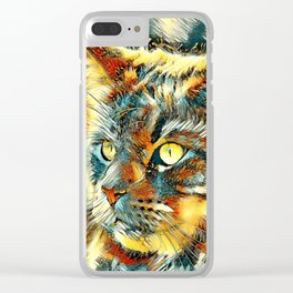 AnimalArt_Cat_20170925_by_JAMColorsSpecial Clear iPhone Case